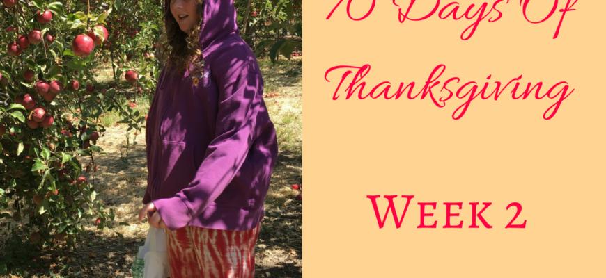 70 Days Of Thankfulness